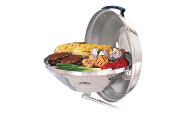 Magma is one of the most popular marine grill brands available for boaters, offering charcoal and gas options.